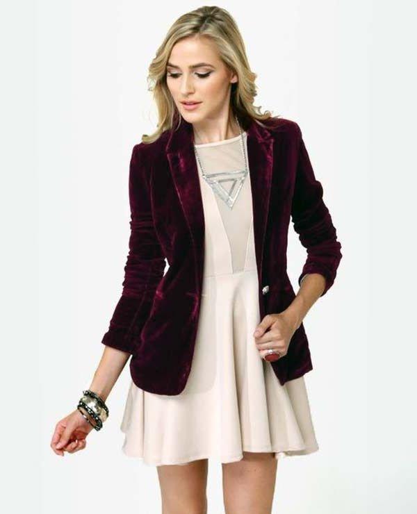 с чем носить вельветовый пиджак женский фото любое