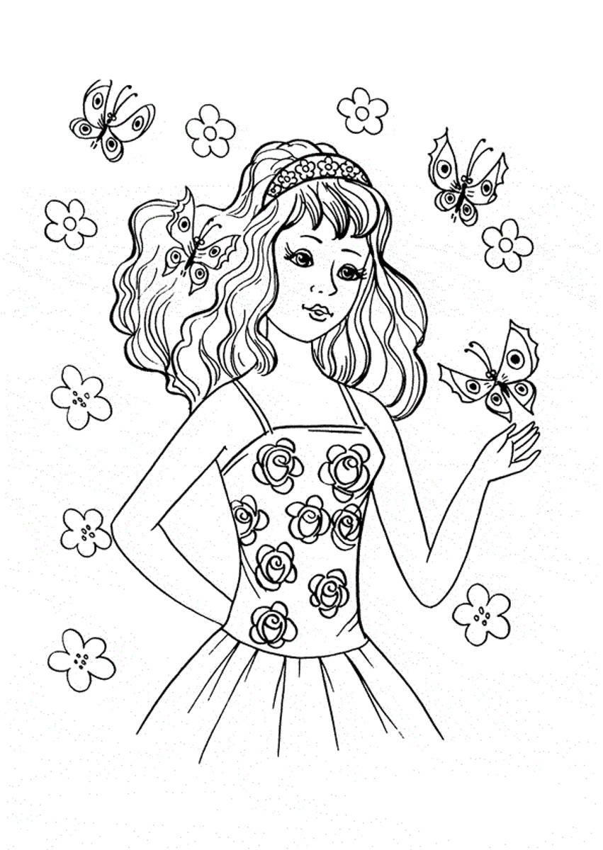 Картинки для девочек раскраска 17 лет, влюбленным отправлять получать