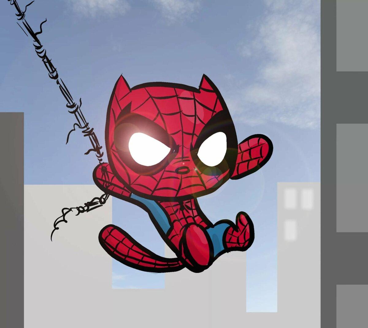 Картинка кошка и паук