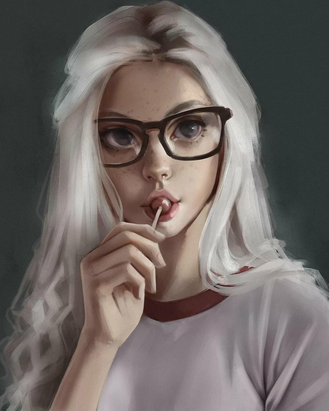 Девочка блондинка рисунок
