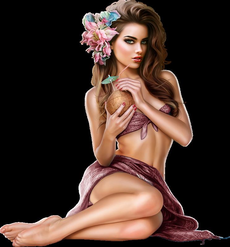 Naked girl clipart
