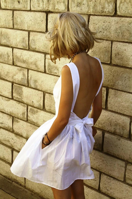 Картинки девушек с короткими светлыми волосами со спины