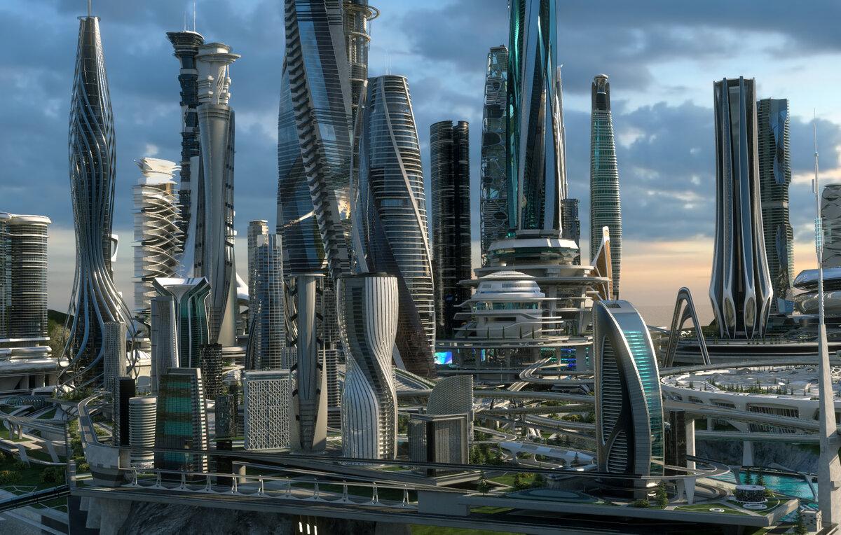 Лучшие картинки города будущего