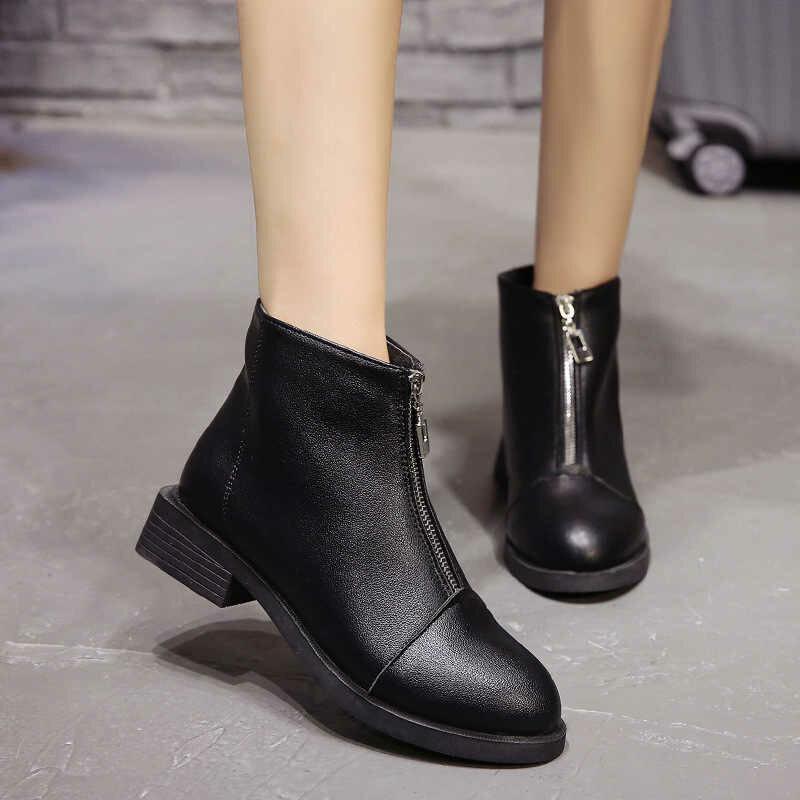 Женские осенние ботинки без каблука фото