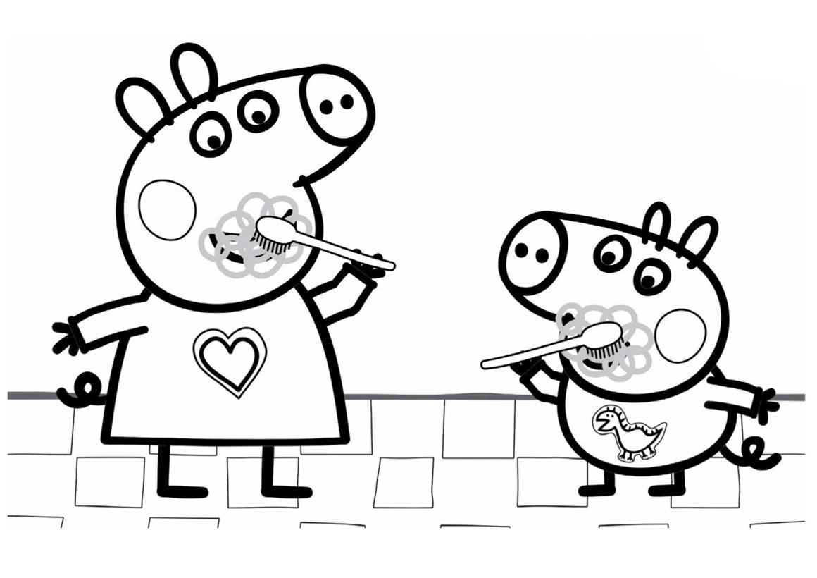 «Свинка Пеппа Чистит Зубы — Раскраски » — карточка ...
