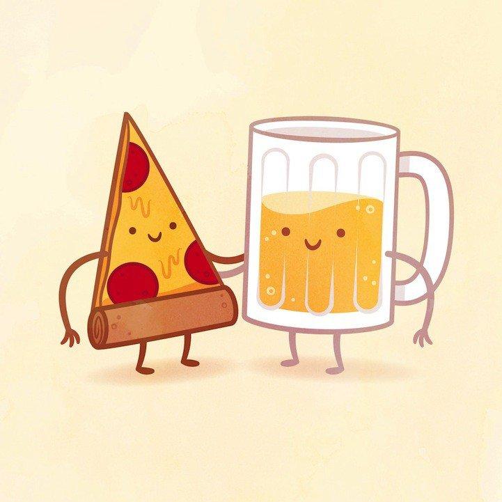 Картинки смешные, прикольные рисунки еды карандашом