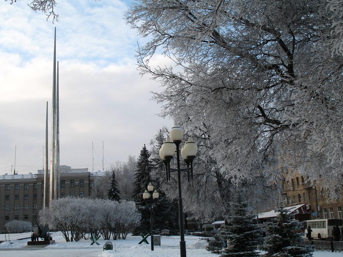 зимний городской пейзаж тулы фото этого