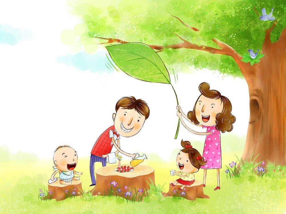 Прикольные рисунки на тему моя семья