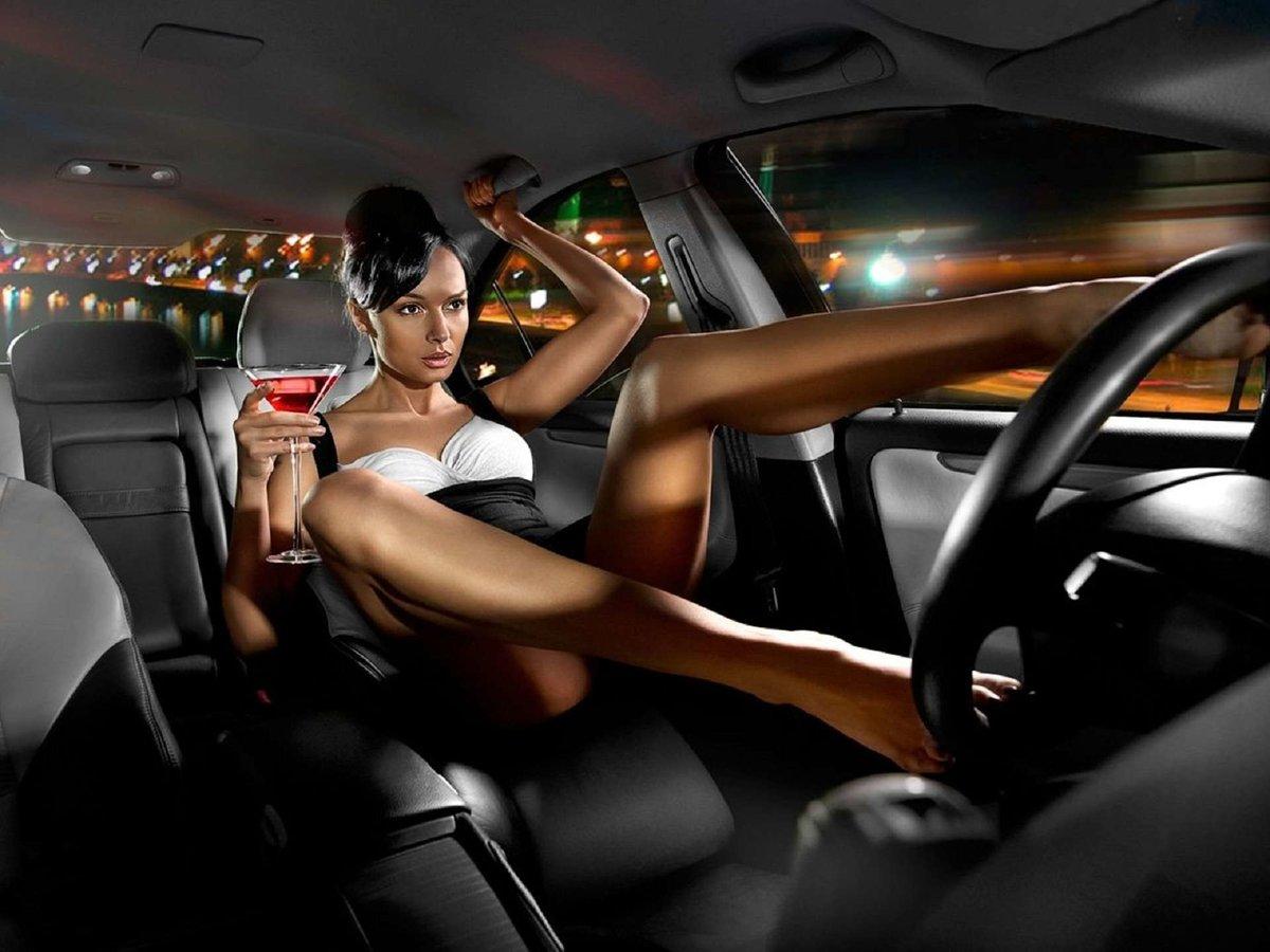 секси девушки за рулем любой