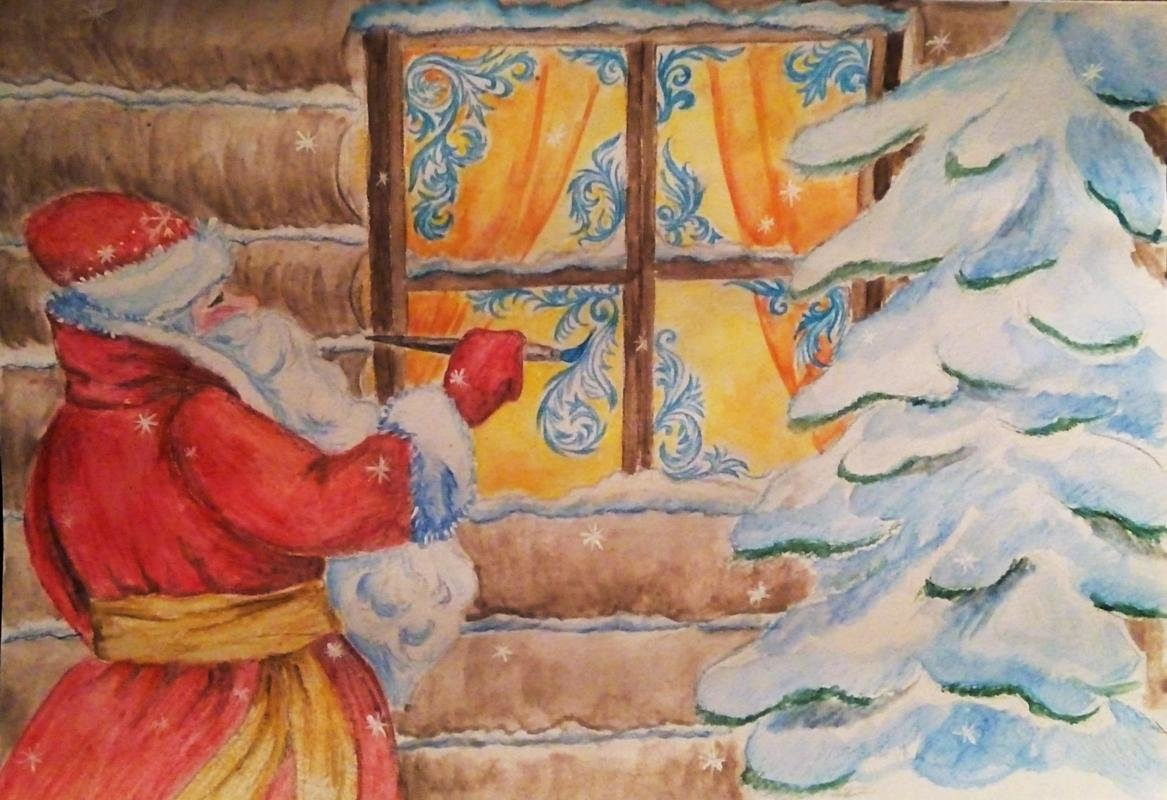Марта москве, узоры на открытку для деда мороза