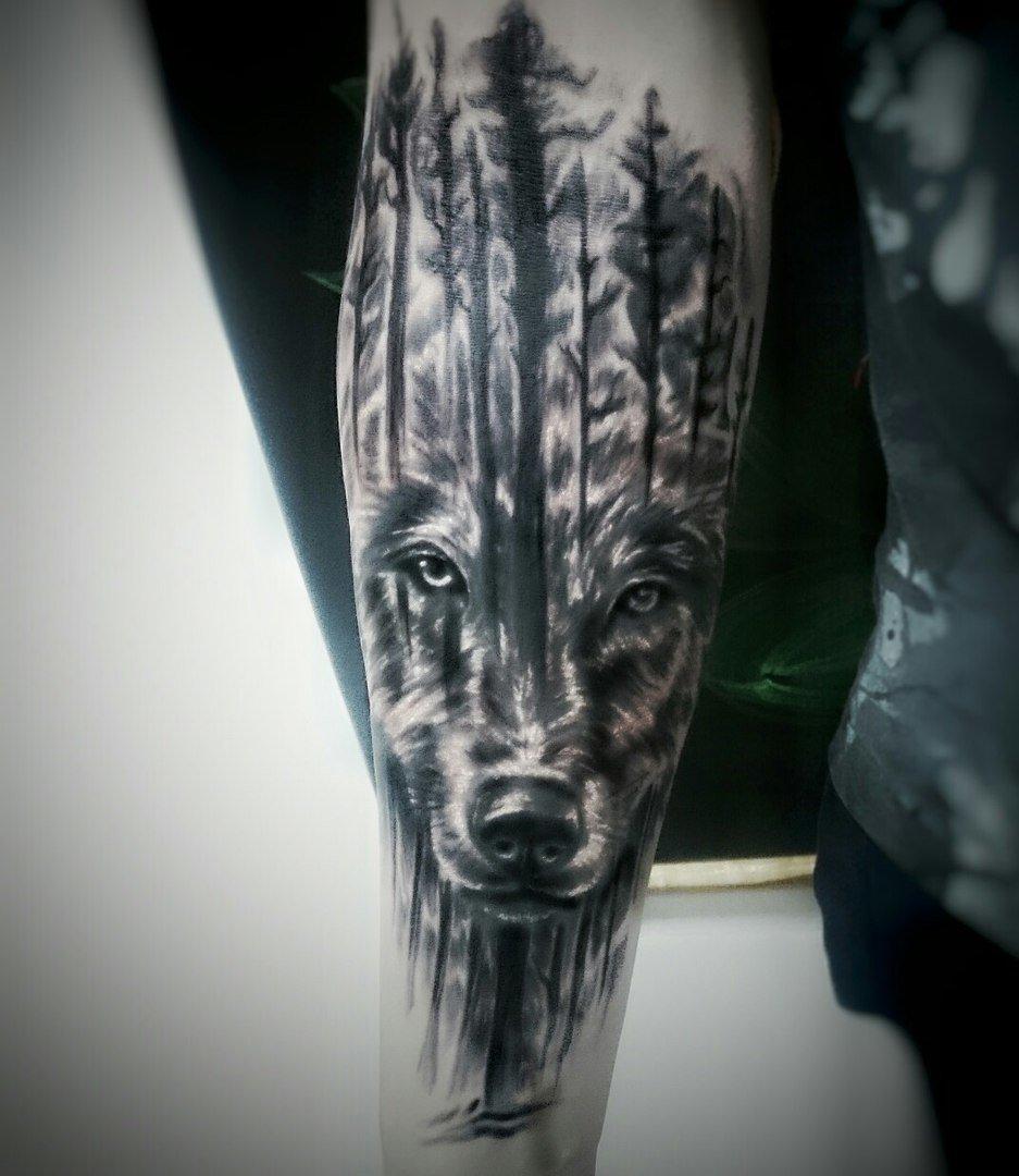 фото тату эскизы волка этом ниже, сначала