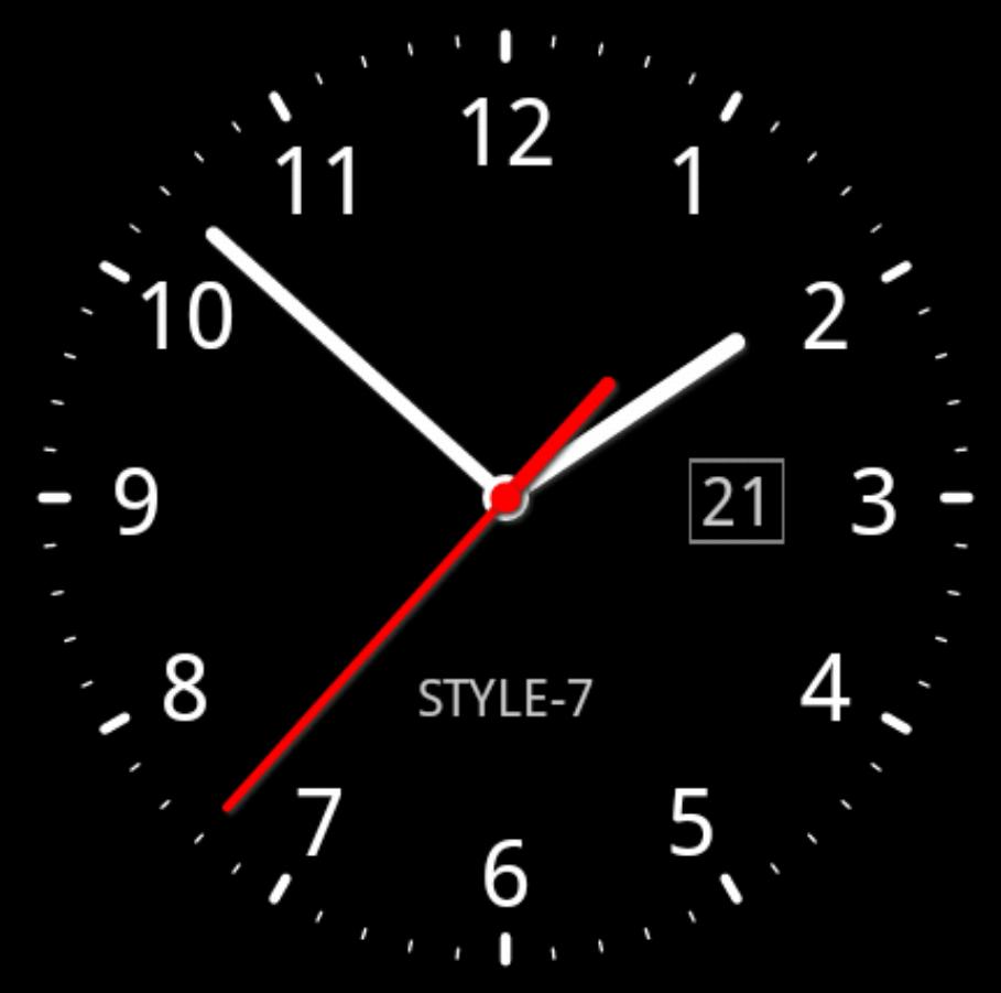Появляется окно мини-приложений, на нем значок часов.