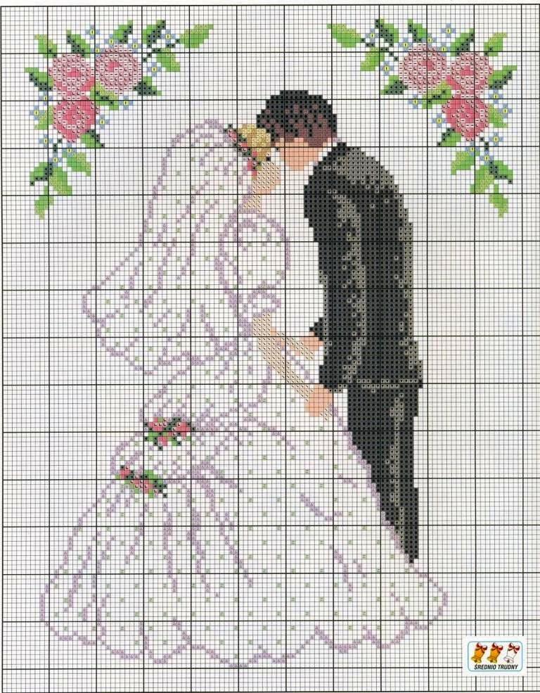 Вышивка свадебный картинки