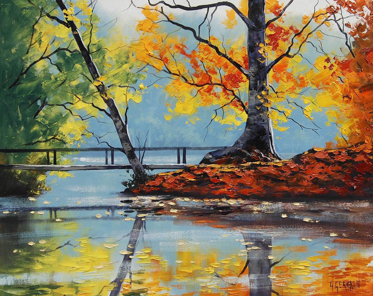 Картинки про осень нарисованные, анимация