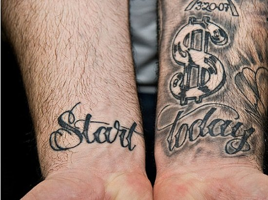 Money Tattoo Designs Using Dollar Signs or Bills : start quote with ...