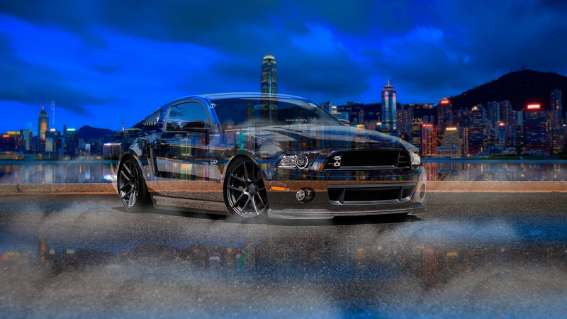 Merveilleux Ford Mustang Shelby Muscle Crystal City Night Smoke
