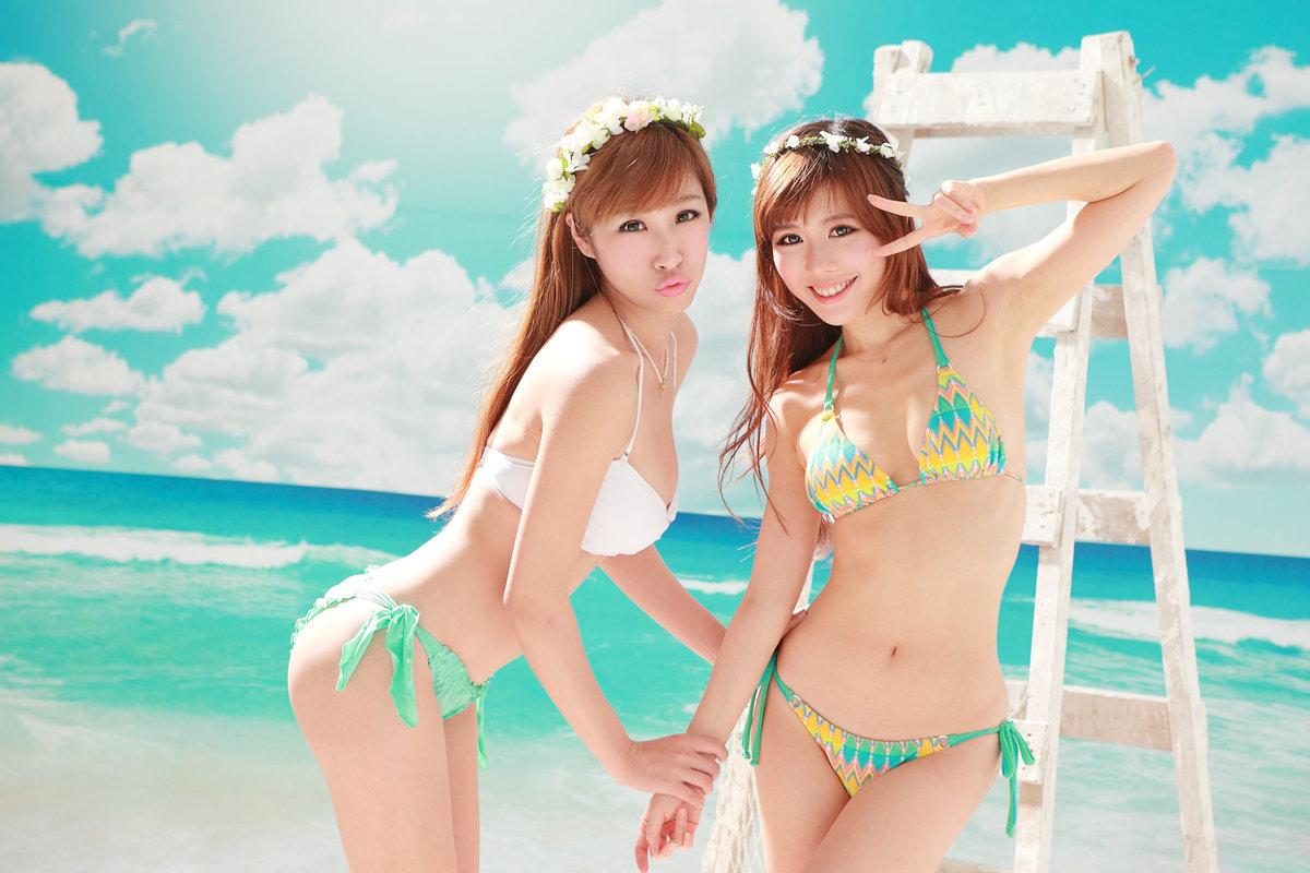 смотреть фото красивых японских девушек на пляже
