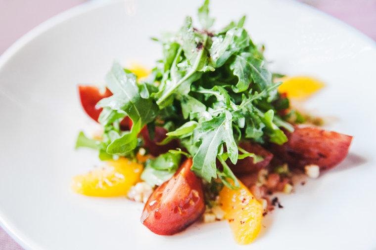 Рецепт салатов из спелых помидор