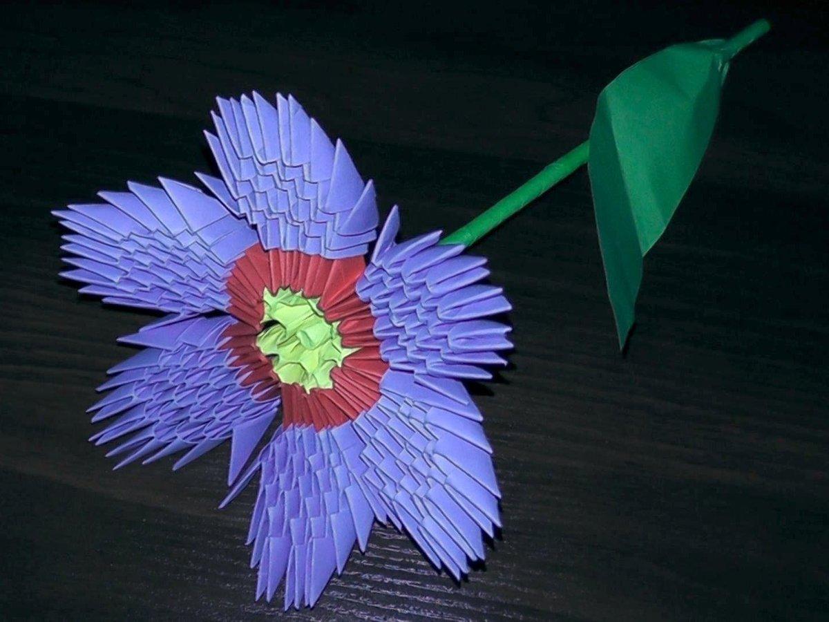 Спб, цветы из треугольников оригами