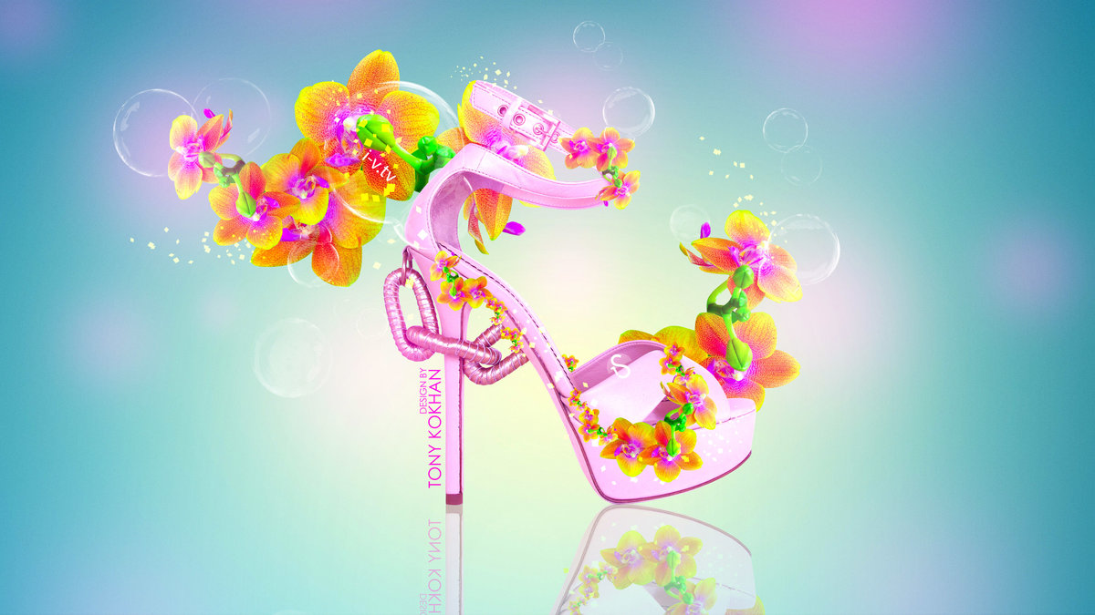 Fantasy Glamour Shoes Lumia Flowers Style 2015 Bubble