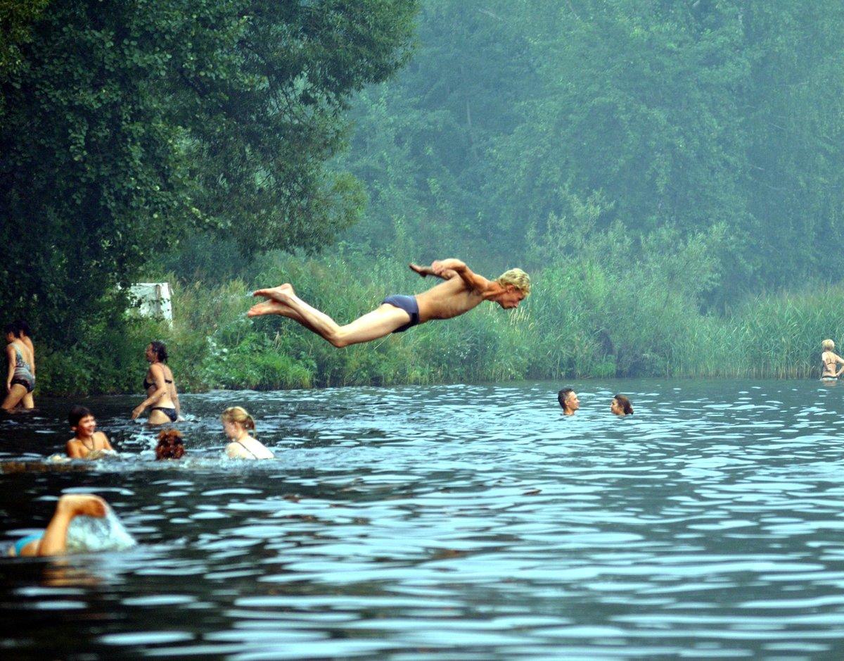 качестве картинки лето купание в озере сами новые