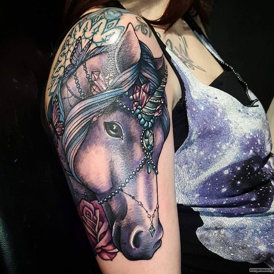 realistic unicorn tattoo - HD1080×1080