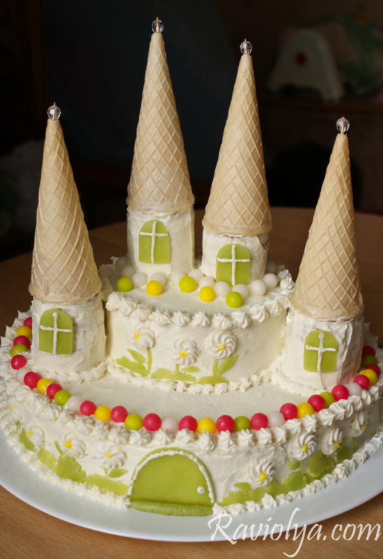 торт замок мастер класс фото миске соедините