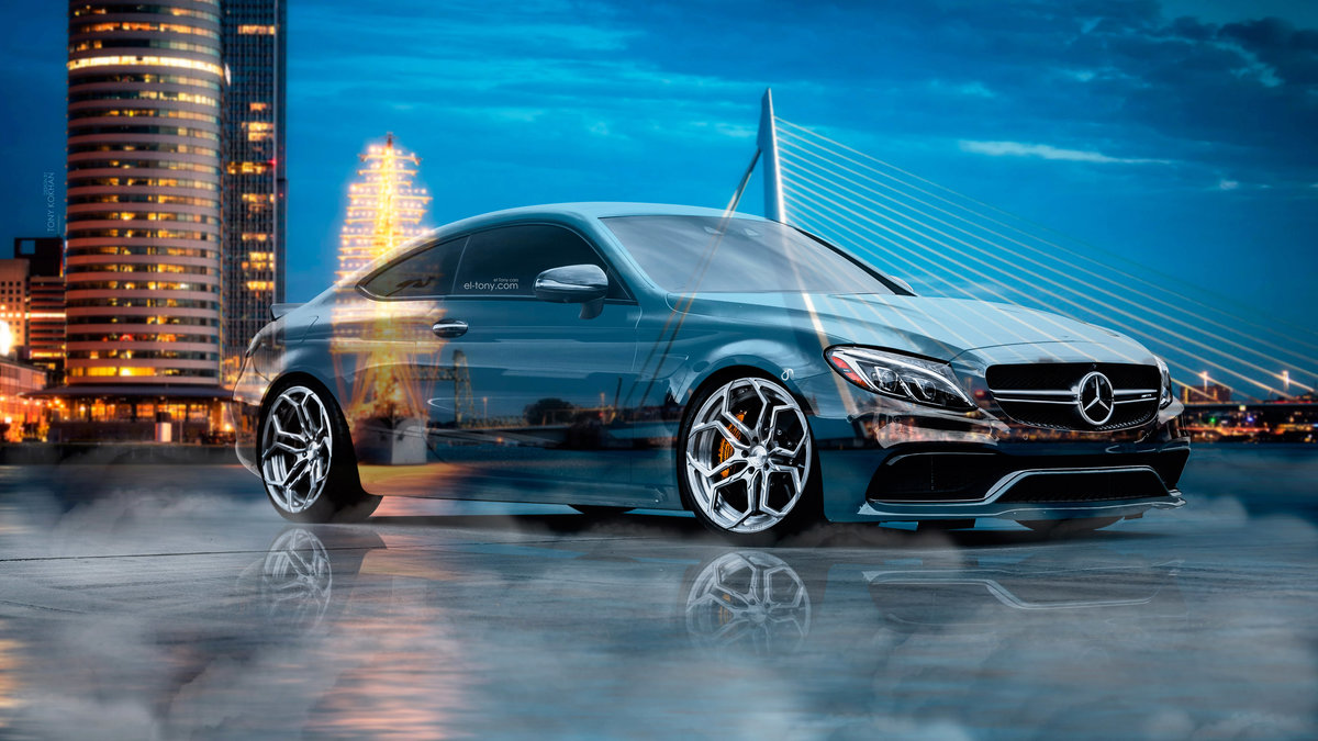 High Quality Mercedes Benz C63S AMG Сoupe Crystal City Rotterdam