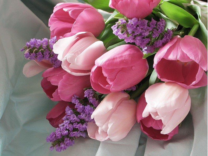 сирень и тюльпаны букет картинки обнажиться