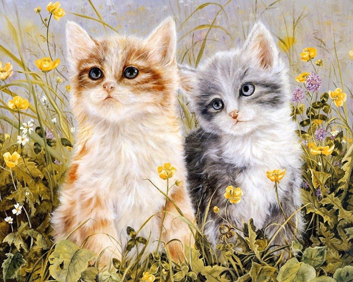 Лет поздравить, картинки с котятами рисунки