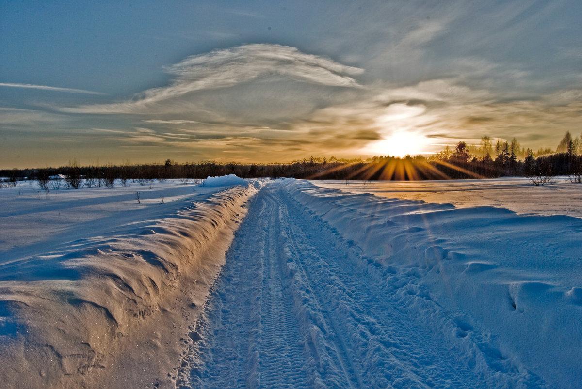 Картинки зима в поле