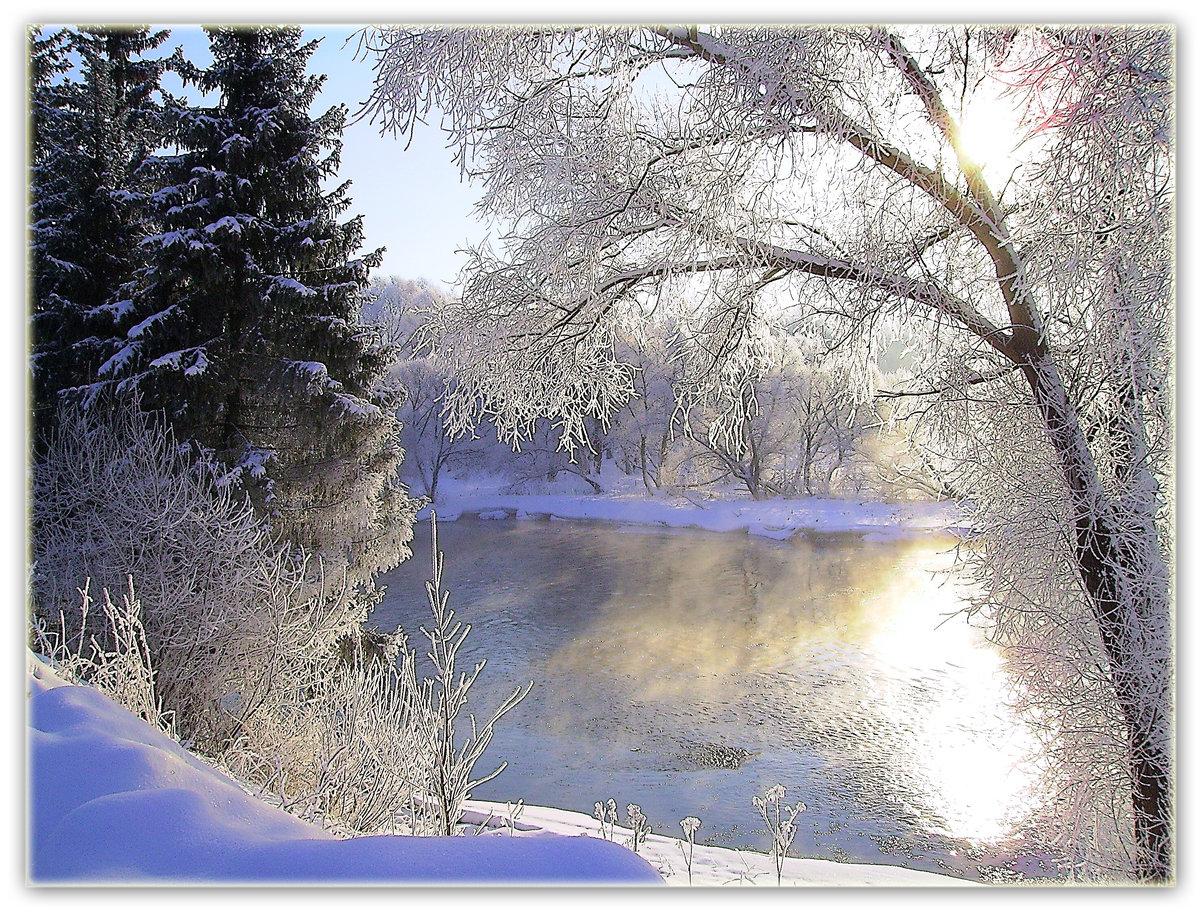 Открытка снег идет, днем рождество пресвятой