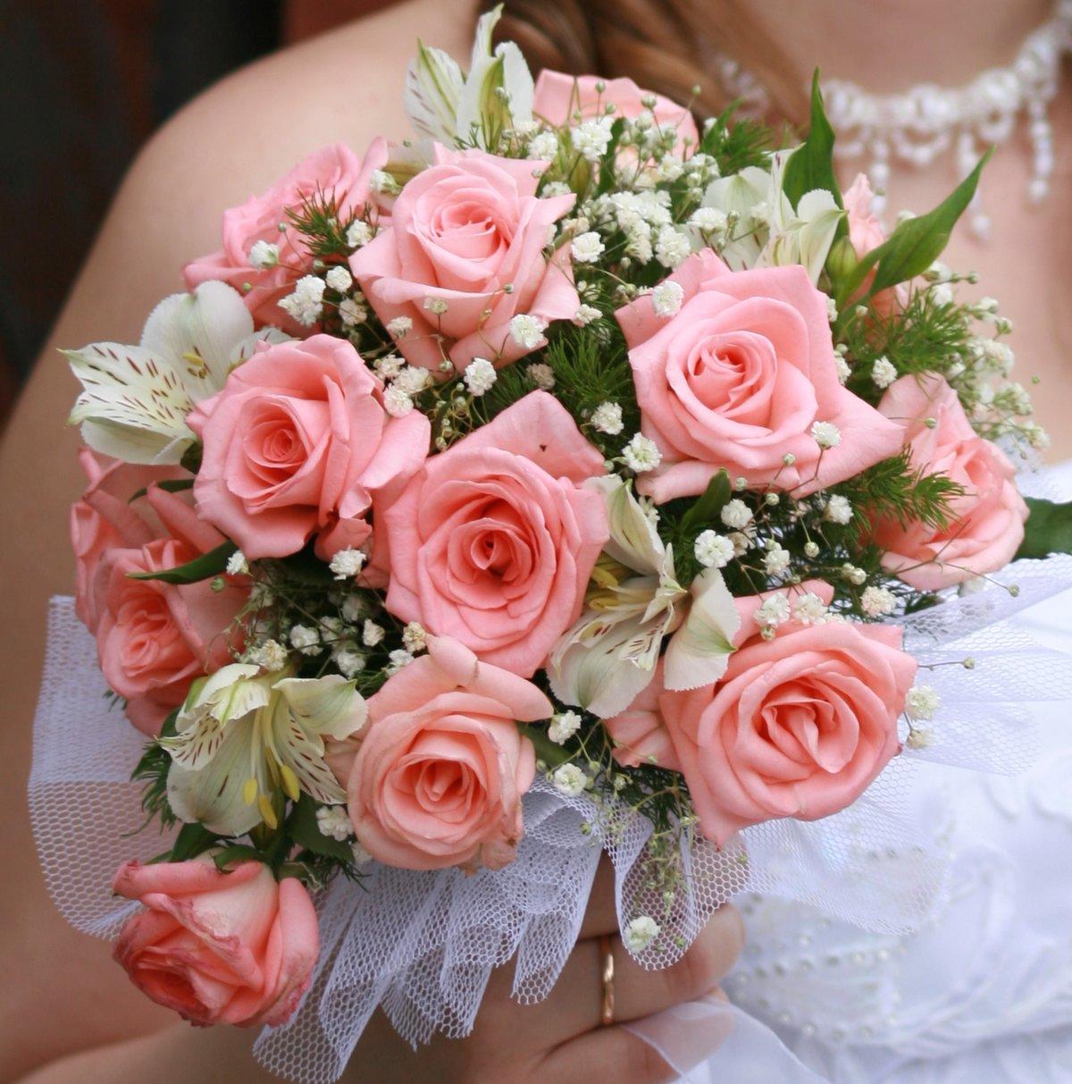 Лучшие букет из роз свадебные