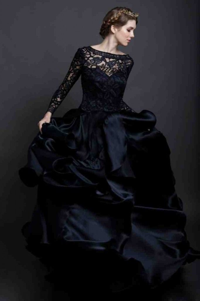 Чёрные свадебные платья
