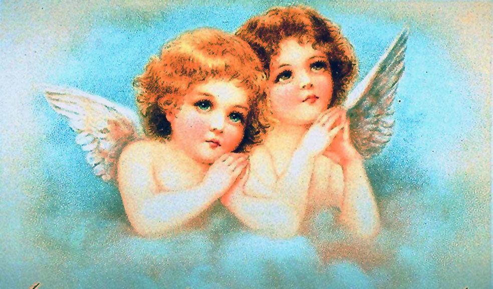 Картинки, открытка с ангелом в день рождения