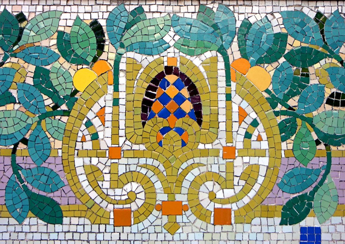 Картинка из мозаики плитка