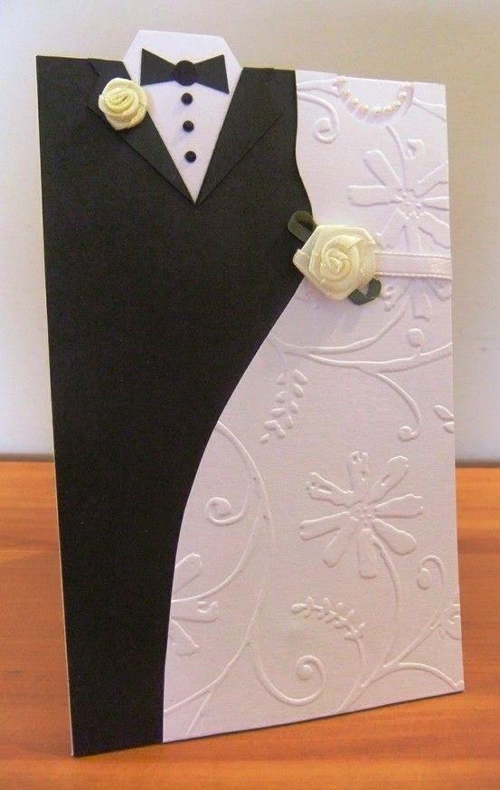 Как сделать открытку приглашение на свадьбу, оригами платья видео