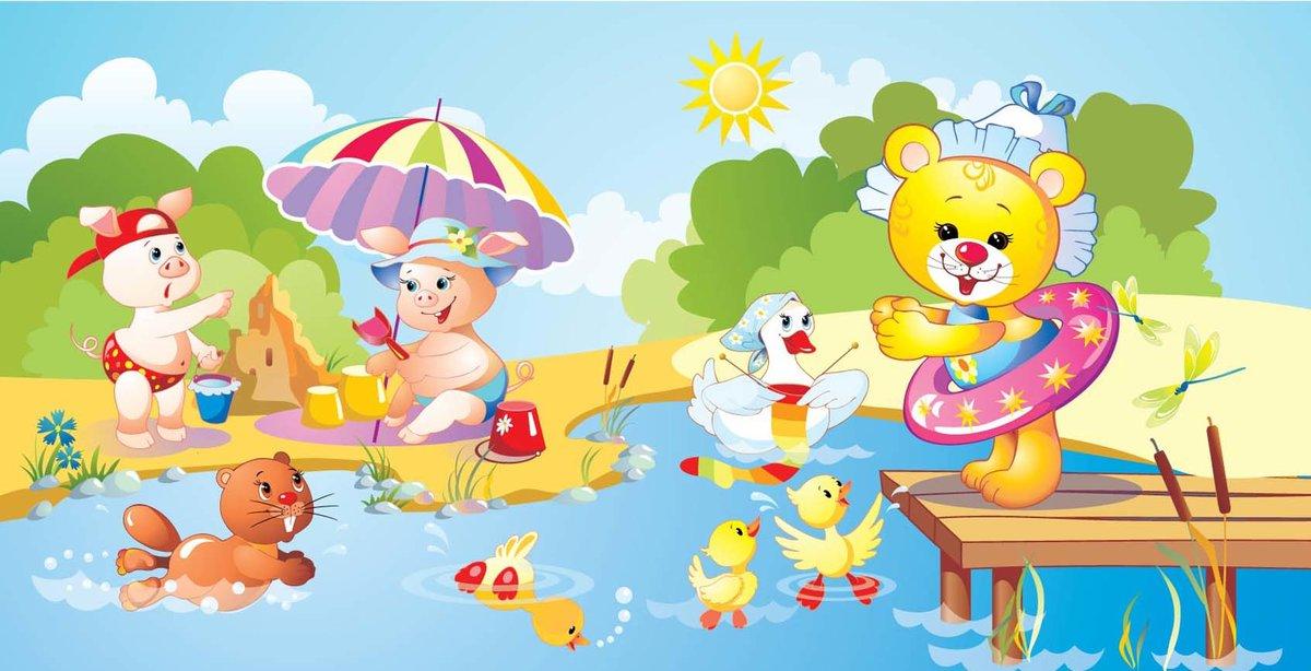 Поздравлением крещением, веселые картинки лето для детей