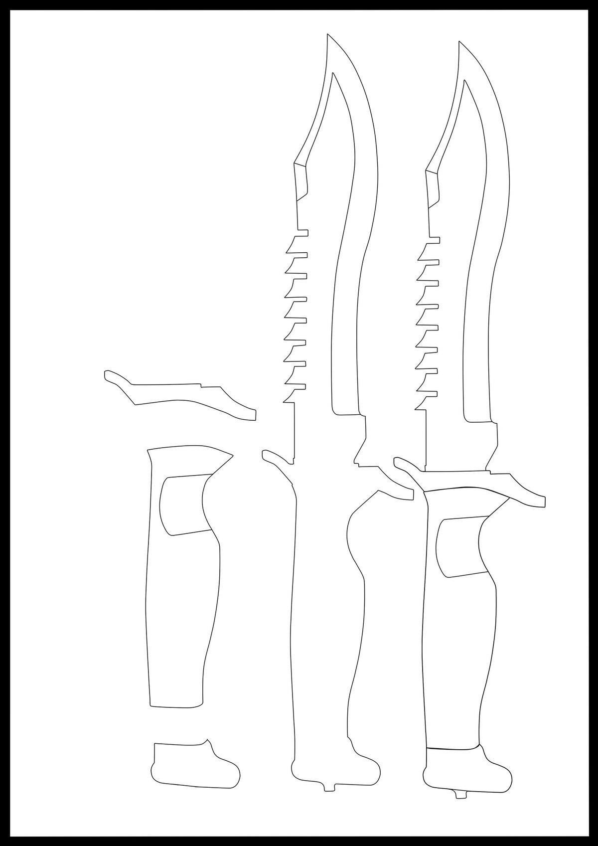 принципе, картинки ножей из кс го чертеж на белом фоне буграх первый объект
