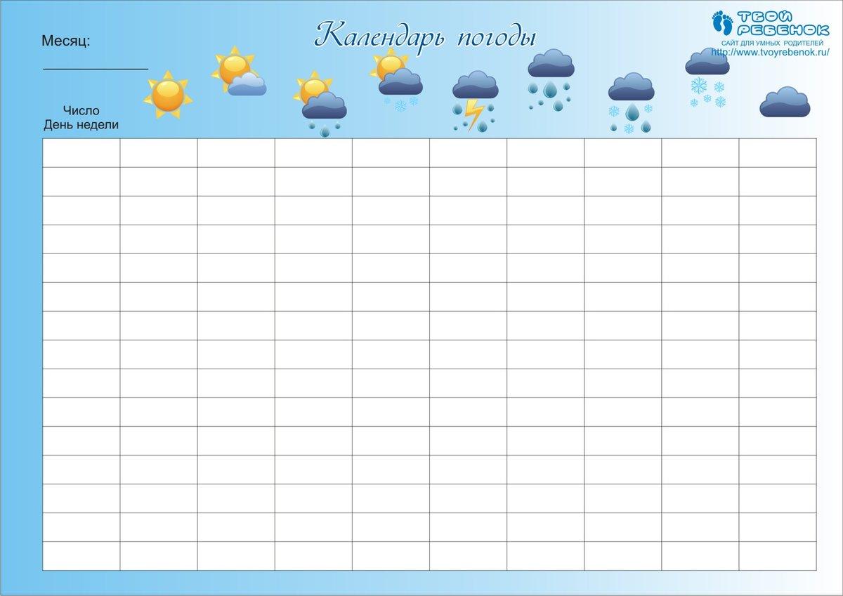 дневник погоды для школьников октябрь 2019
