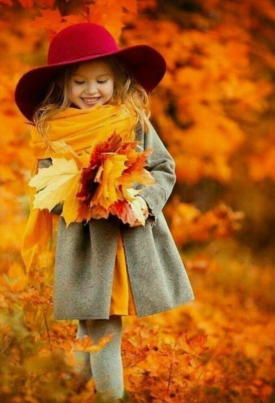 Картинки дети и осень с надписью