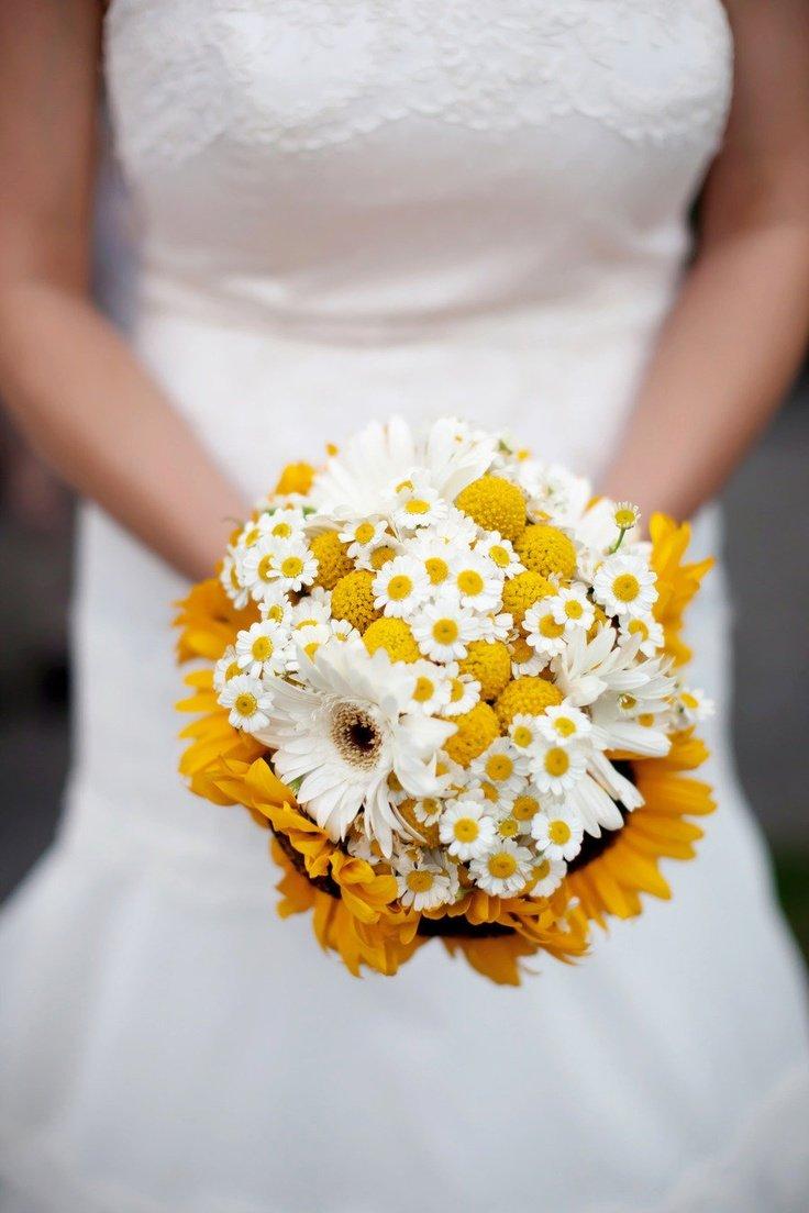 Свадебные букеты из ромашек донецк цены, оптовая продажа цветов
