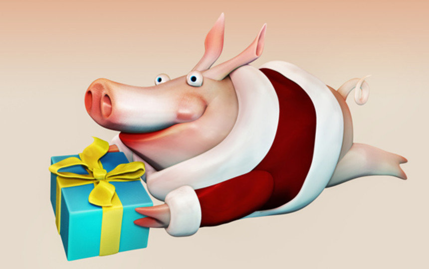 Картинки смешные новогодние свинки, спасибо