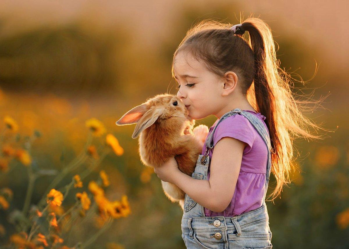 Картинки дети с животными милые, очень смешными