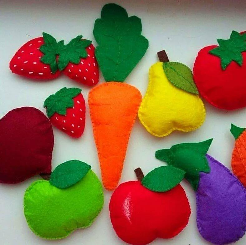 фрукты и овощи из фетра картинки курсор