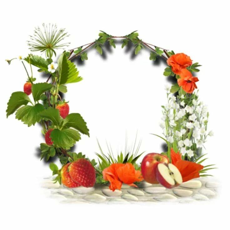подготовке рамка для фото с ягодами стен помощью