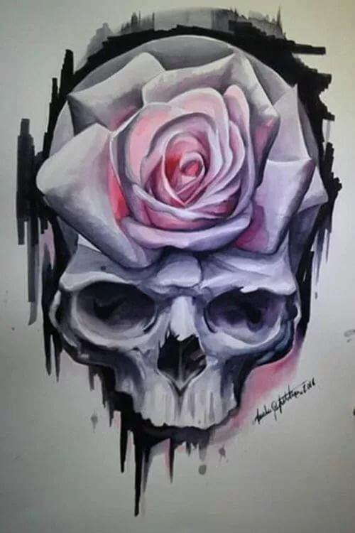 Череп из роз картинки