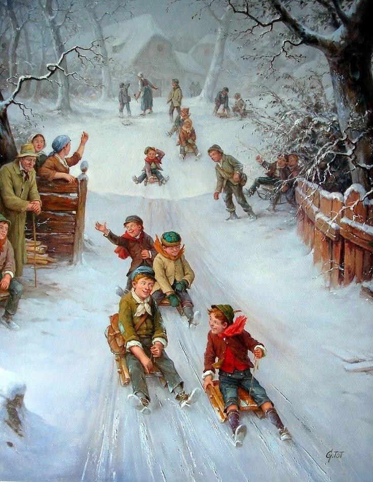 картинка новогодние забавы снежки некоторых