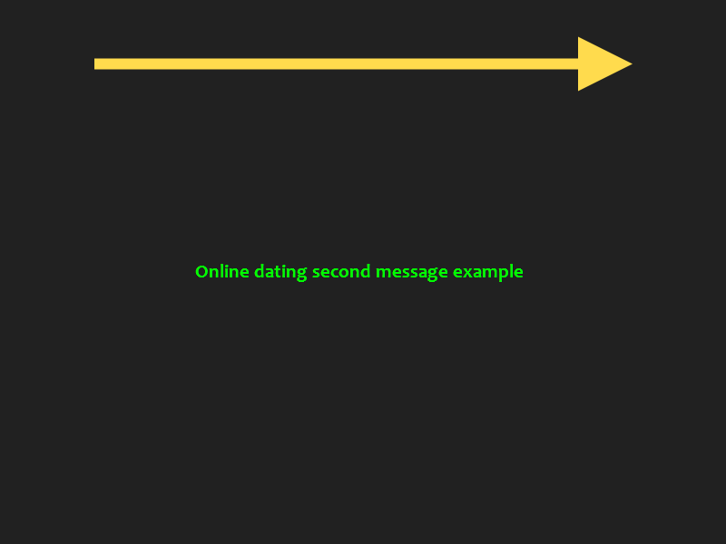 second dating message