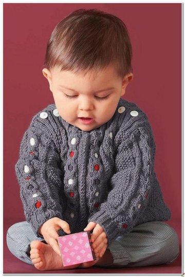 вязание кофточки спицами для детей от 0 до 3 лет с описанием и